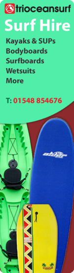 Surfboard hire in South Devon